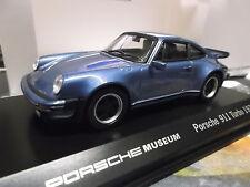 Porsche 911 930 turbo 3.0 Blue azul met 1974 museo Edition Welly 1:43