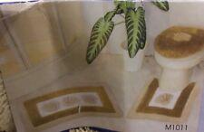 Fashion Toilet Cover 3 pcs Bathroom Mat Set Soft Carpet Bathmats Rugs New Freshp