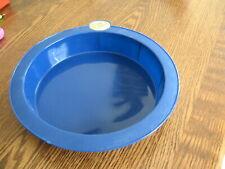 "Smartware Silicone Baking Cake Pan 8"" Round Cobalt Blue Bakeware Ovenware"