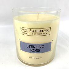Archipelago Botanicals Sterling Rose Soy Wax Candle 14 Oz Glass Jar Discontinued