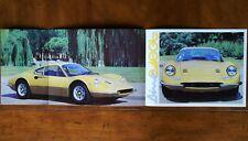 Ferrari Dino 246 GT brochure Prospekt, 1972