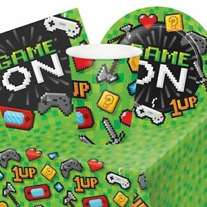 Gaming Party Tableware Pack - For 8