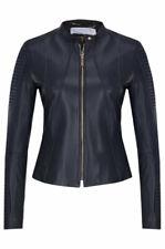 Hugo Boss Saviza women's leather biker jacket size UK 6