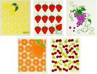 Wet-It! Swedish Treasures Dishcloths & Cleaning Cloths - 5 Pack - Fruits