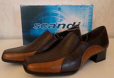 Damen Schuhe Business-Schuhe Straßenschuhe Slipper  scandi  Braun  Gr.39-40 NEU