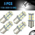 5PCS White 1156 BA15S LED RV Camper Trailer 1141 Interior Light Bulb 13SMD 6000K