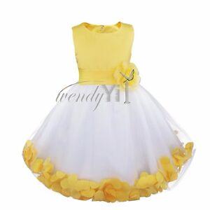 Flower Kids Girls Dress Birthday Party Wedding Bridesmaid Gown Formal Dresses