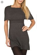 NWT Sophie Max Gray Off The Shoulder Sweater Dress Size M
