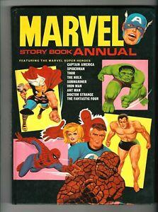 1967 MARVEL STORY BOOK ANNUAL *  Rare Hardcover * SPIDERMAN * HULK * Marvelmania