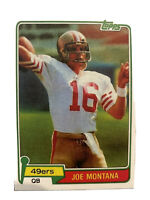 1981 Topps Joe Montana San Francisco 49ers Rookie  #216 Brand New Card Reprint