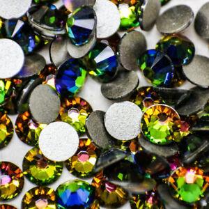 Swarovski Crystals rhinestones RAINBOW FIRE flat back non hotfix gems stones