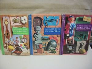 The Golden Book Encyclopedia Book 1, 4, 5 1960