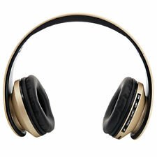 Foldable FM Radio Stereo MP3 Player Wired Bluetooth Bass Headset Earphones