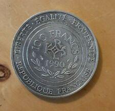 (#N0659) FRANCE Pièce de 100 Francs 1990 Charlemagne en argent