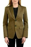 Dsquared2 Dark Green Two Button Women's Blazer US XS IT 38
