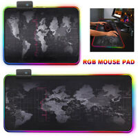 Computer Gaming Large Desk Mat Backlight Mouse Pad Mice Mat RGB For PC Laptop
