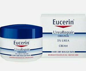 Eucerin dry skin replenishing cream 5% urea with lactate & carnitine 75ml