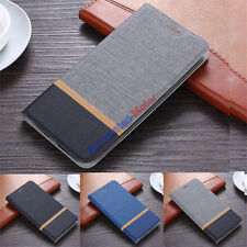 Fashion Canvas Wallet  PU Leather Flip Stand Cover Case For OnePlus 1 2 3 3T 5 X