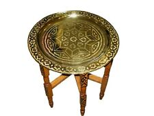 Moroccan brass tray table -Moroccan end table-Moroccan brass tray-Moroccan table