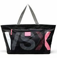 New Victoria's Secret Black Ladies Beach Shopper Book Weekend Tote Bag lbag124