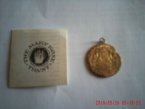 Mary Rose Trust - Gold Henry V111 Half Soveriegn Coin Pendant