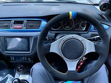 Greddy Style v2 Stitching Lancer EVO 7/8/9 VIII IX Steering Wheel Wrap Suede