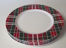 Lenox Vintage Plaid 4 Dinner Plates NIB