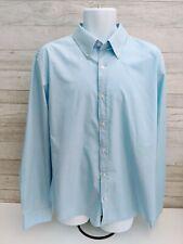 MEN'S FILA Button down Long Sleeve Shirt BLUE Size XXL Thin Striped Shirt!!!