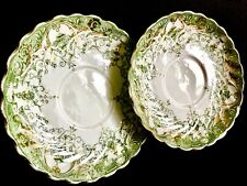 "Pair of Rare Antique (1890s) Registered Design ""RENA"" 5""/13cm Bone China Saucers"