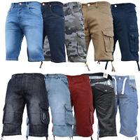 New Mens Boys Sale Crosshatch Enzo Zico AD Combat Gym Jogger Jeans Shorts Cheap