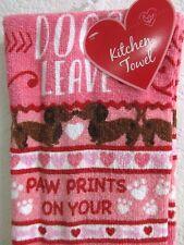 Valentines Day 2-pc Dachshund Kitchen Towels Set Kitchen Decor