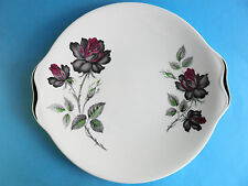 ROYAL ALBERT MASQUERADE CAKE SERVING PLATE WITH BLACK TRIM