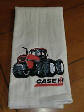 Embroidered Velour Hand Towel - Case IH Tractor - Gray/Silver Towel