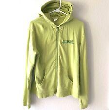 Von Dutch Womens Hoodie Sz L XL Green Soft Stretch Cotton LS Logo Spellouts Hip