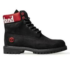Timberland 6 Inch Premium Waterproof High Ankle Boots A1QTV Shoes Black Red UK8