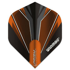 5 Sets Winmau Prism Alpha Standard Dart Flights - Black and Orange - F0849X5