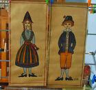 Swedish Jute Wall Hangings Costumed Couple Uhr Scandinavian