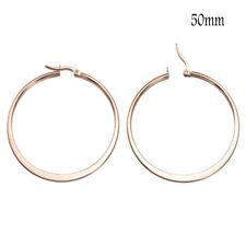 Women Simple Large Hoop Earrings Thin Metal Rope Big Hoops Heart Silver Jewelry
