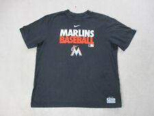 Nike Miami Marlins Shirt Adult 2XL XXL Black Orange DriFit MLB Baseball Mens A16
