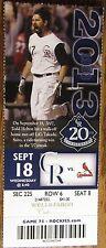 Sept. 18, 2013 Colorado Rockies vs. St. Louis Cardinals Ticket Stub Todd Helton