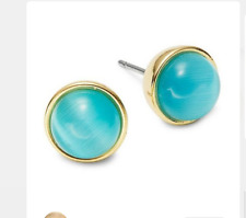 Kate Spade Forever Gems Circle Stone Stud Earrings Turquoise