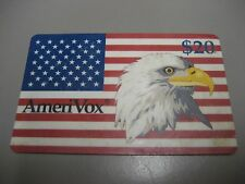 AmeriVox, Bald Eagle / American Flag, $20 Phone Card