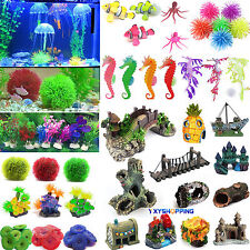 Artificial Coral Water Plant Ornament Plastic Aquarium Fish Tank Landscape Dec