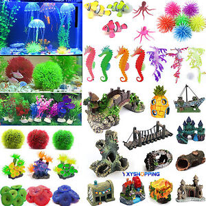 Artificial Coral Water Plant Animal Aquarium Plastic Fish Tank Home Decoration