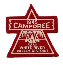 RARE 1945 WW2 CAMPOREE PATCH BSA WHITE RIVER VALLEY WASHINGTON VERMONT INDIANA