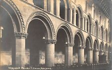 BR80135 worksop priory nave arcade  real photo  uk