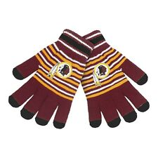 Washington Redskins Gloves Acrylic Stripe Knit Sports Logo Winter Texting Tips