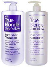 Hi-Lift True Blonde Zero No Yellow Pure Silver Shampoo and Conditioner (700 ml)