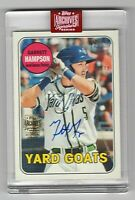 2019 Topps Archives Signature Series Garrett Hampson Yard Goats #'d /48
