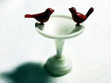 Plasticville Birdbath W/2 Red Birds O-S Scale